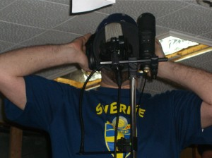 Dave recording vocals